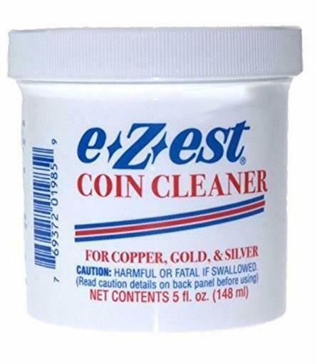 E Z est Ezest Easy Coin Jewelry Cleaner 5 oz for Gold Silver & Copper Items New