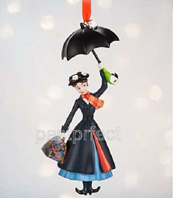 Disney Store Mary Poppins Umbrella Sketchbook Christmas Ornament New in Box 2018 - Christmas Ornament Store