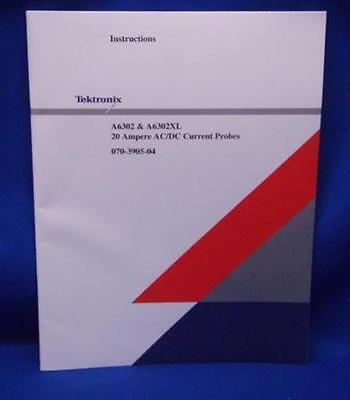 Tektronix A6302 A6302xl Probe Instruction Manual Tek Pn 070-3905-04