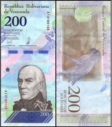 VENEZUELA PNEW 200 BOL VARES SOBERANOS ND 2018 UNC-GEM USA SELLER 2  - $1.99