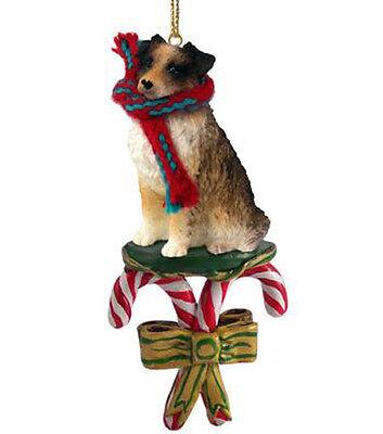 AUSTRALIAN SHEPHERD DOG CANDY CANE CHRISTMAS ORNAMENT HOLIDAY XMAS brown Aussie Australian Shepherd Christmas Ornament