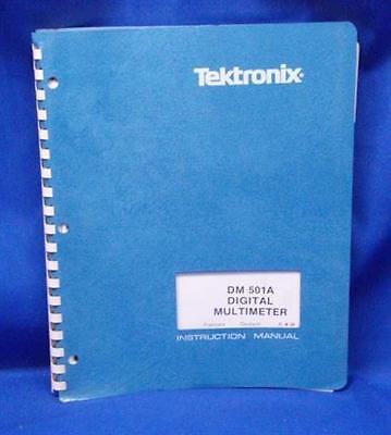 Tektronix Dm 501a Dmm Instr. Manual Wschematics