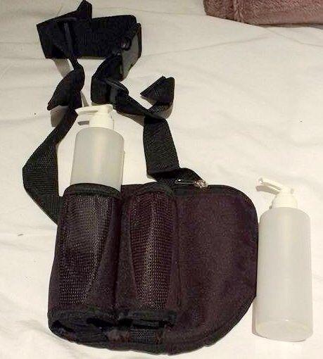 Double massage oil holster