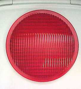 """!NICE! CORNING Railroad Red Glass Lens 8 3/8"""" Made IN USA NO 554"""