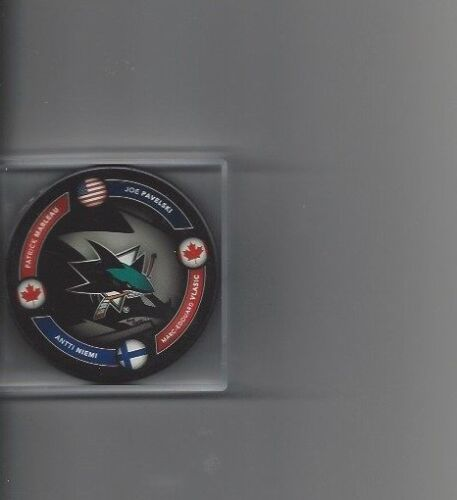 San Jose Sharks Marleau,Pavelski,Niemi,Vlasic Limited Edition Puck Free Shipping