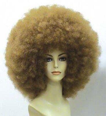 70S 60S 80S DISCO FEVER DIVA RETRO MEGA JUMBO BIG AFRO COSTUME WIG BLACK BROWN - Brown Afro
