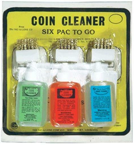 Nic A Pac Complete Coin Cleaner Cleaning Combo Kit Set A Tone Lene Rag Spray New