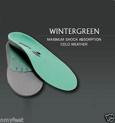 # C Superfeet Wintergreen Senkfußeinlage Kaltes Wetter Einlegesohle Herren 5.5