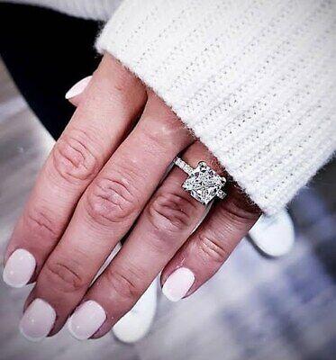 2.35 Ct Cushion Cut Diamond Engagement Ring Solitaire Pave  G,VS2 EGL Platinum 2