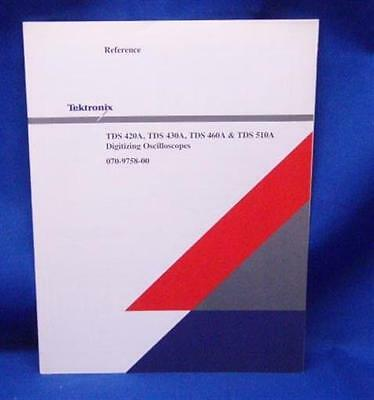 Tektronix Tds 420a 430a 460a 510a Reference Manual