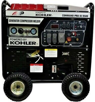 Amp Command Pro Iii 9500 3 In 1 Generator 35kw Compressor 110psi Welder 200a.