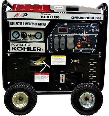 Amp Command Pro Iii 9500 3 In 1 Generator 35kw Compressor 110psi Welder 200a.