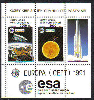 Turkish North Cyprus Stamps SG 306 1991Europa space MINT Never Hinged