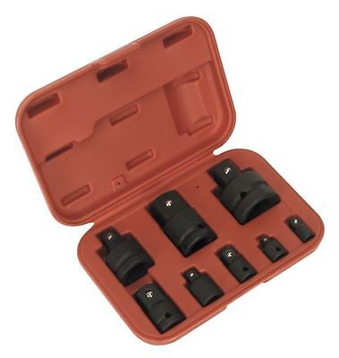 Sealey AK5900B 8 Piece IMPACT Wrench Socket Adaptor/Converter/Reducer Set + Case