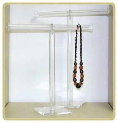 Acrylic Bracelet Or Necklace T-bar Display Stand 18