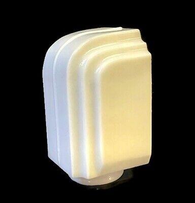 ANTIQUE ART DECO Bathroom Vanity White Milk Glass Sconce Shade