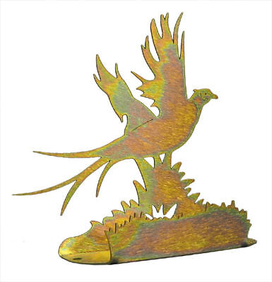 Pheasant Gold Metal Business Card Holder