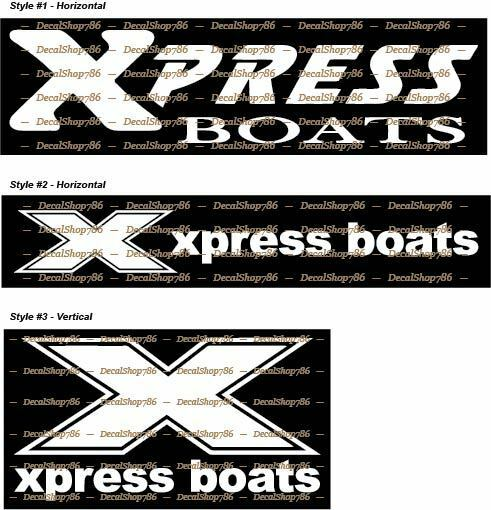 XPRESS Boats - Fishing/Outdoor Sports - Vinyl Die-Cut Peel N