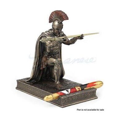 Roman Military Commander Kneeling SPQR Sword Letter Opener Statue Pen Holder