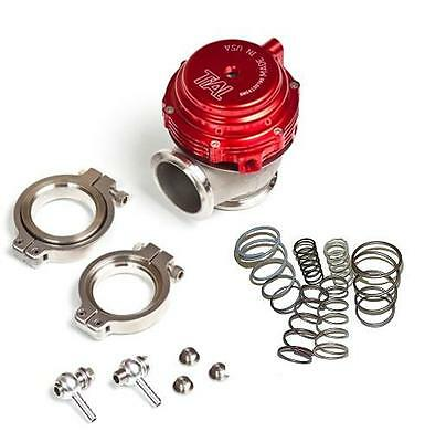 TiAL MVR 44MM WASTEGATE MV R V BAND FLANGES ALL SPRINGS INCLUDED KIT RED
