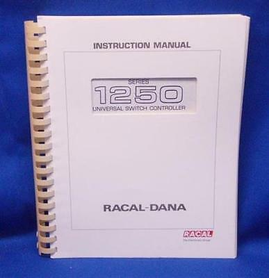 Racal-dana Series 1250 Instruction Manual Wschematics