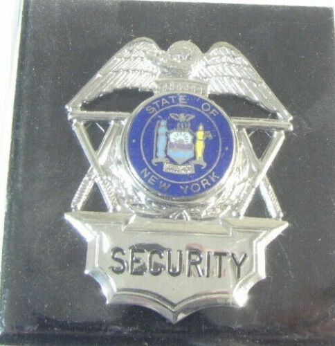Obsolete New Cadet Mfg Premium Security Officer Badge Shield New York Seal 2A4