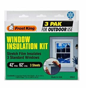 thermwell v93 3h outdoor three window insulation film kit with t