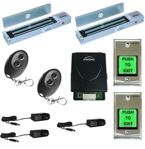 Two Door Visionis Access Control with Maglock 600lbs Wireless Receiver Remote