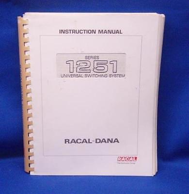 Racal-dana Series 1251 Instruction Manual Wschematics