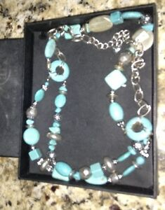 Jade and silver necklace for sale London Ontario image 2