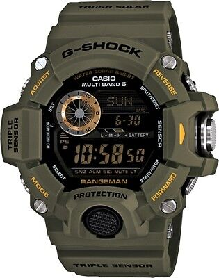 Casio G-Shock GW9400-3 Rangeman Military Triple Sensor Atomic Watch