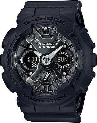 BRAND NEW CASIO G-SHOCK GMAS120MF-1A S-SERIES BLACK ANA-DIGI WOMAN WATCH NWT!!!!