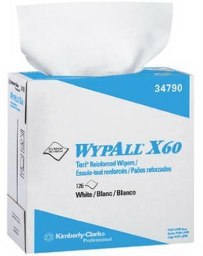 Wypall 34790 White Reinforced Wiper - 10 Pack 126 Count