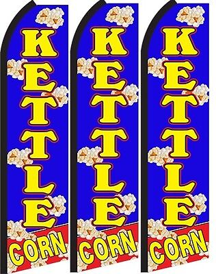 Kettle Corn Standard Size Swooper Flag Banner Sign Pk Of 3
