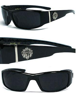 Neu Choppers Biker Herren Designer Sonnenbrille - Fire Logo C38