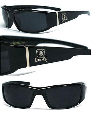 Neu Choppers Biker Herren Designer Sonnenbrille - Schädel Logo C38