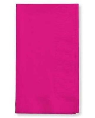 Hot Magenta Dinner Napkins 50 Per Pack Pink Decorations & Party -