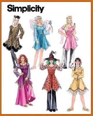 Sew & Make Simplicity 3614 SEWING PATTERN - Girls Costumes FAIRY GYPSY CAT - Make Gypsy Costume