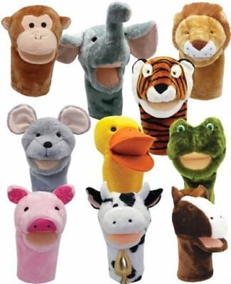 Get Ready 200999 Kids Bigmouth Animal Puppets Set of 10 Big Mouth Animal Puppets