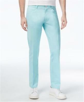 Stretch Air Pants - Calvin Klein Sateen Slim-fit Stretch Pants Aqua Air Mens 36x30 New