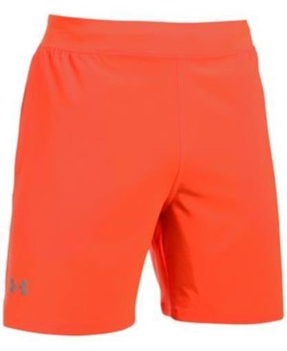 Under Armour 7 Inch Speedpocket Running Shorts Orange Mens S