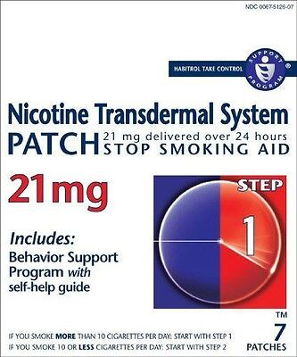 2017 EXP. NICOTINE TRANSDERMAL SYSTEM STEP 1, (07) patches @ 21mg