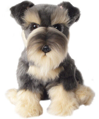 "Faithful Friends Schnauzer 12"" Soft Toy Dog"