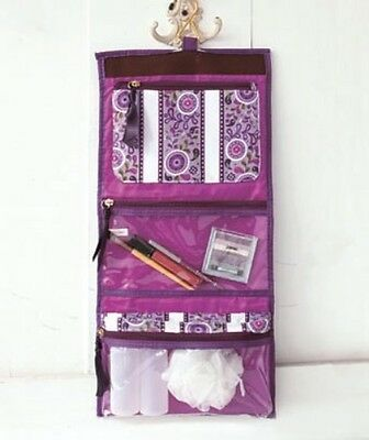 Allegro Quilted Cosmetic Bags Hanging Travel Pouch