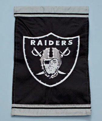 OAKLAND RAIDERS NFL FIBER OPTIC GARDEN FLAG FOOTBALL TEAM PORCH PATIO HOME - Oakland Raiders Fiber Optic
