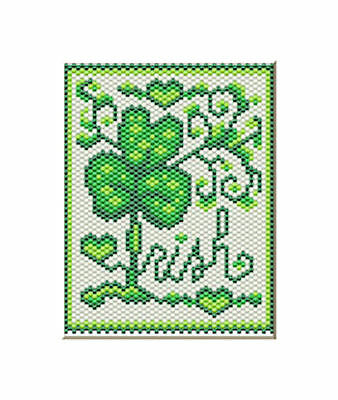 PROUD TO BE IRISH PONY BEAD BANNER PATTERN ONLY