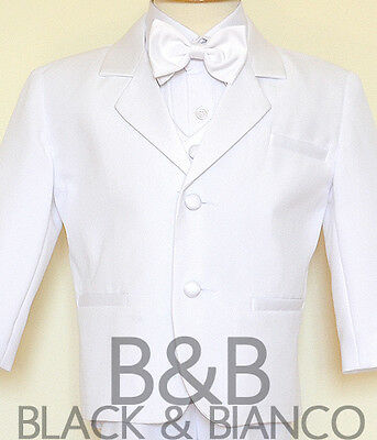 Prince Charming Toddler Costume (Charming Prince Boys Toddler White Tuxedo Suit Bow Tie Size Small - Size)