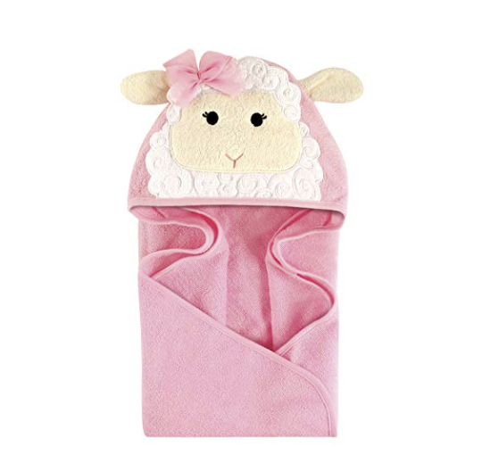 Hudson Baby Lamb Animal Face Hooded Towel