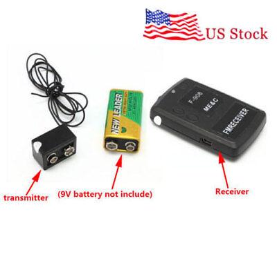 Spy Wireless Transmitter Receiver Hidden Fm Audio Mini Listening Device Ear Bug