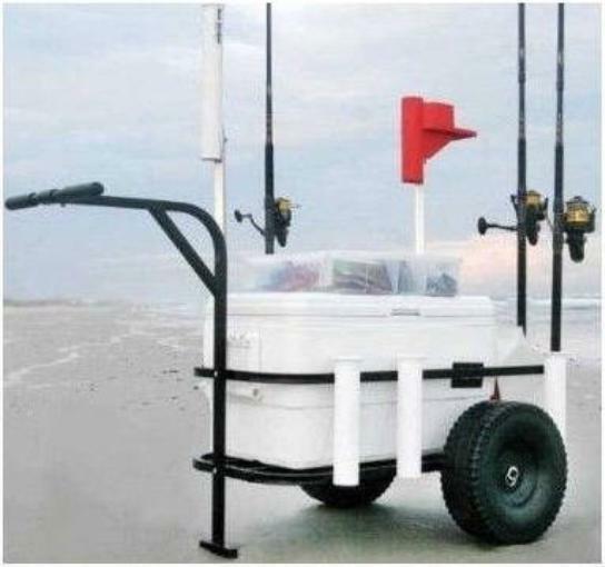 Sea Striker BRSC-DLX Deluxe Beach Runner Pier Beach Cart Pneumatic Wheels 17214